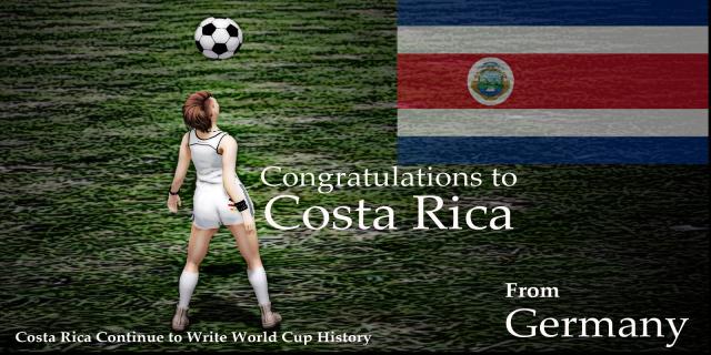 Congratulations to Costa Rica